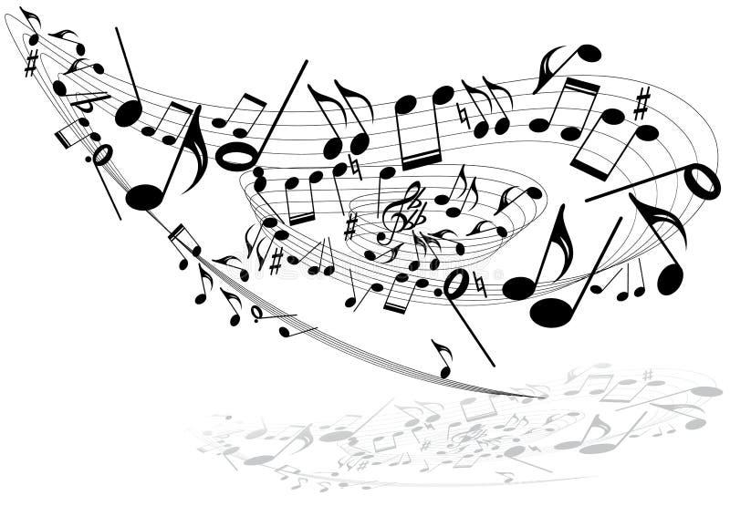 Het themaRoes van de muziek royalty-vrije illustratie
