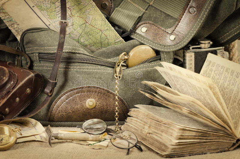Het themastilleven van de reis stock afbeeldingen