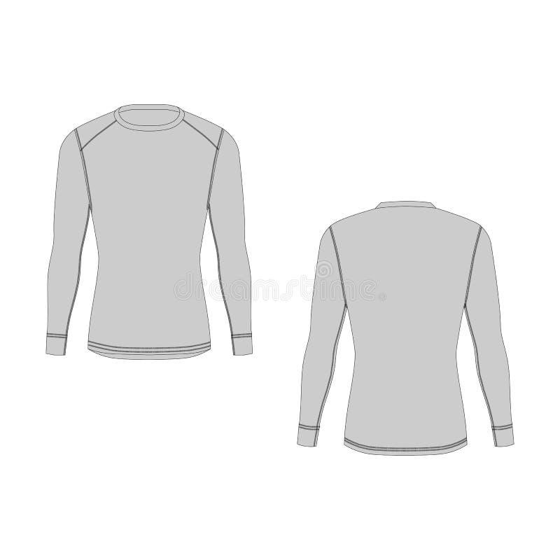 Het thermische ondergoed van de mensenwinter De geïsoleerde mannelijke kleding van de sport onbesuisde wacht royalty-vrije illustratie