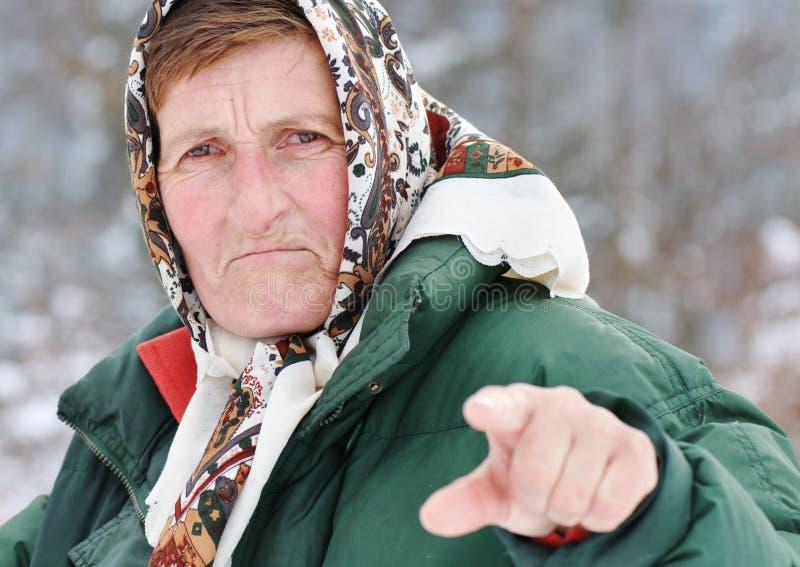 Het threating van de bejaarde stock foto's
