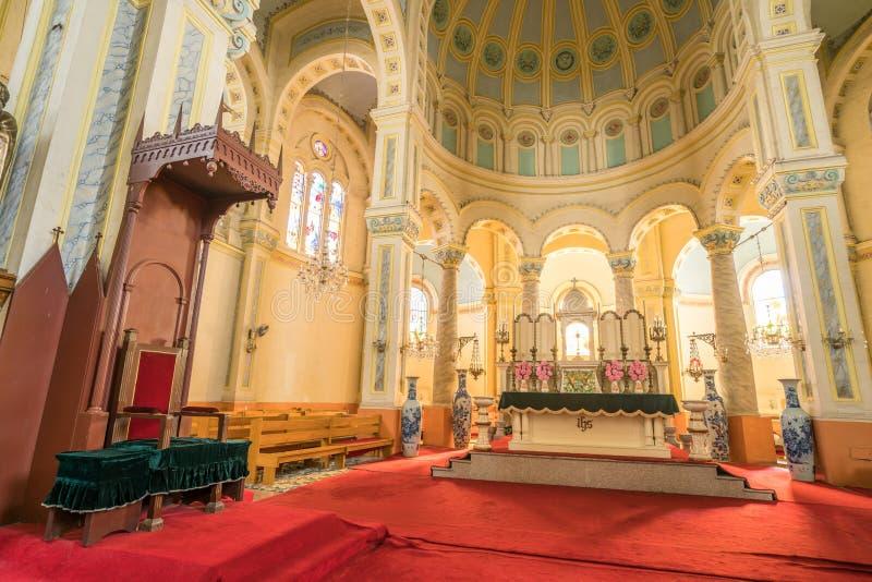 Het Tianjinwesten opent het kerkbinnenland stock foto's