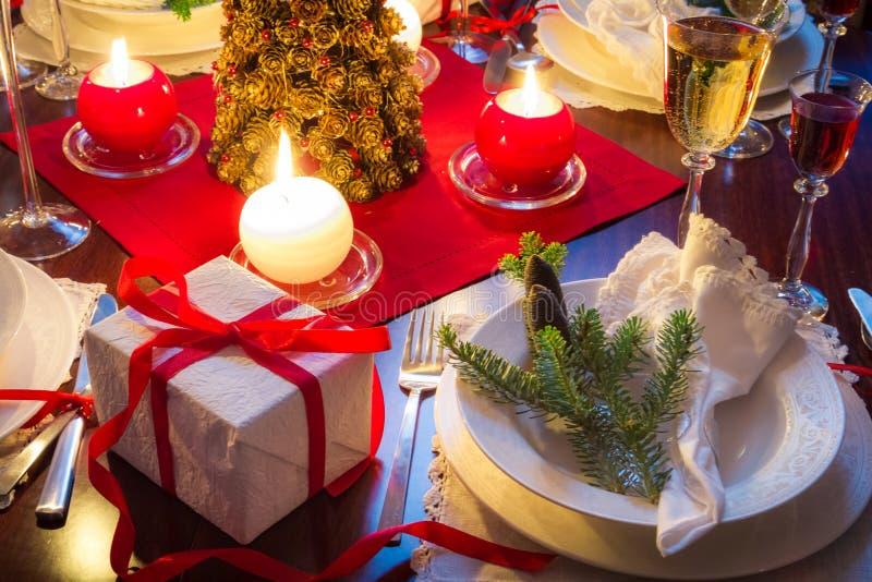 Het is tijd voor heerlijk Kerstmisvoedsel stock foto