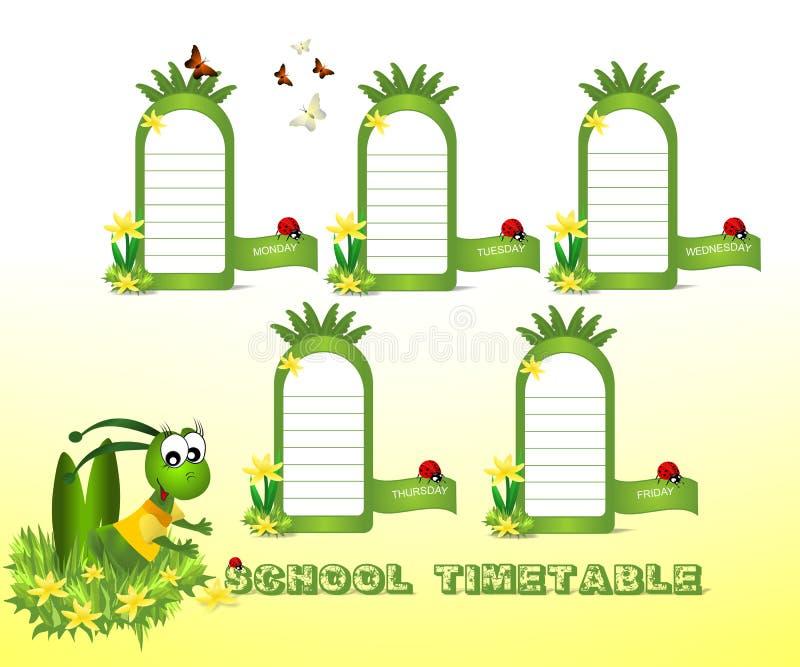 Het tijdschema van de school vector illustratie