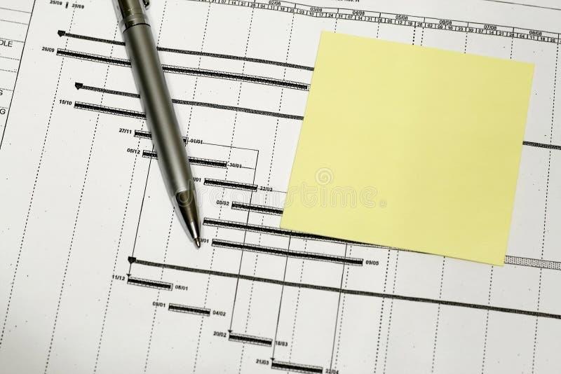 Het Tijdschema van het project stock foto's
