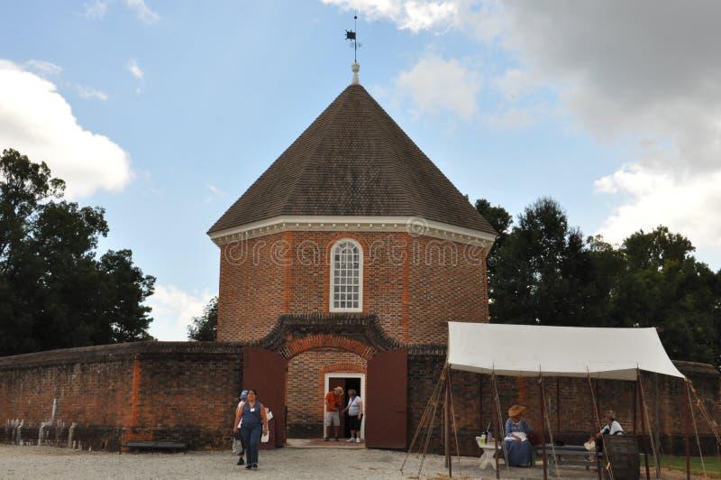 Het Tijdschriftgebouw in Koloniale Williamsburg, Virginia royalty-vrije stock foto's