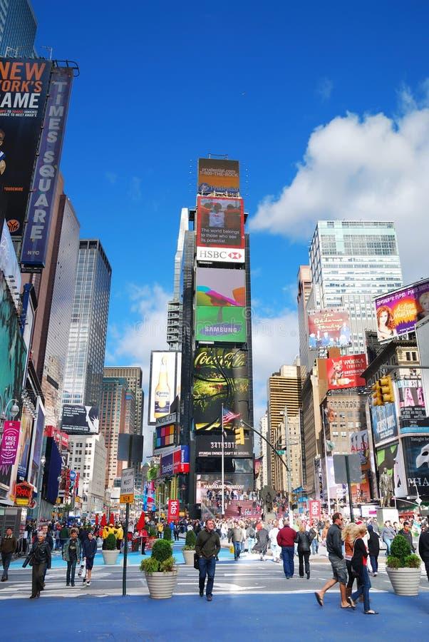 Het Times Square van Manhattan van de Stad van New York royalty-vrije stock foto's