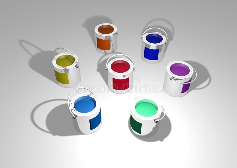 Het Tin van de verf vector illustratie