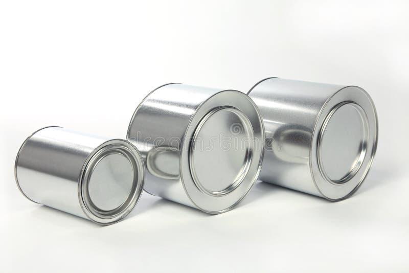 Het tin van het metaal royalty-vrije stock foto's
