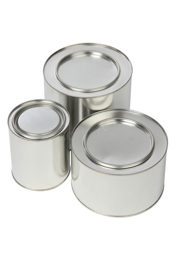 Het tin van het metaal stock afbeelding