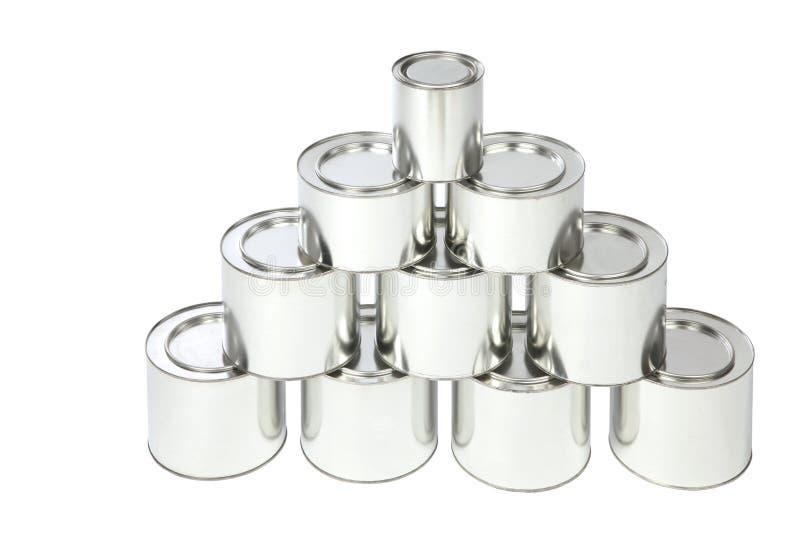 Het tin van het metaal stock foto