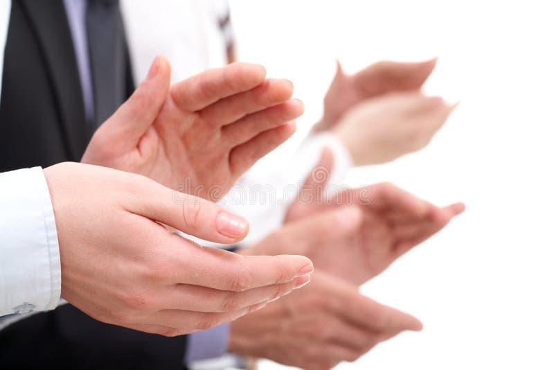 Het toejuichen handen stock fotografie