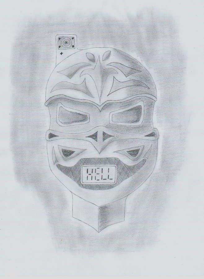 Het toekomstige masker van de slaghel royalty-vrije stock afbeeldingen