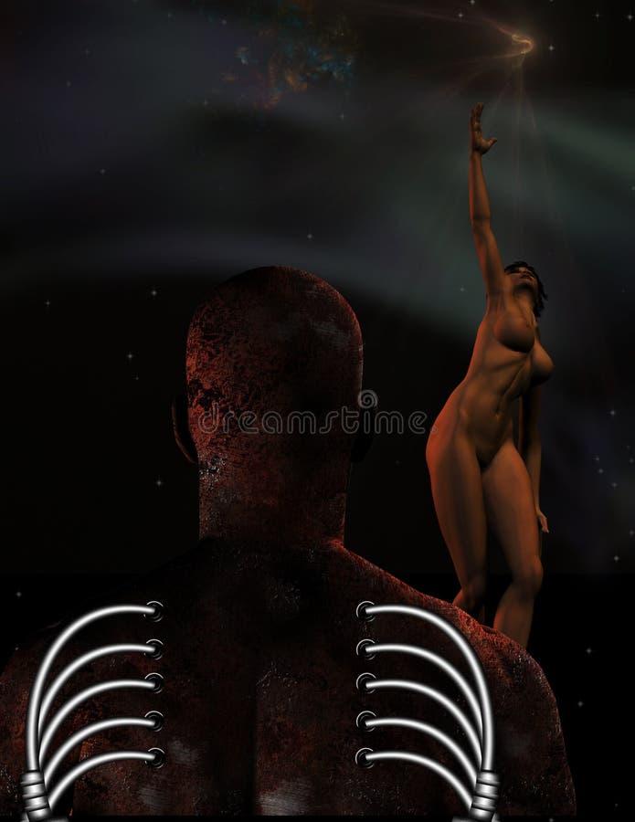Het toekomstige mensdom royalty-vrije illustratie