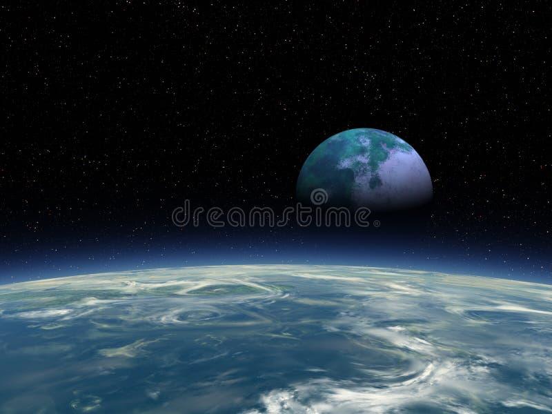 Het Toenemen 02x4ZW van de Maan van Flox stock afbeeldingen