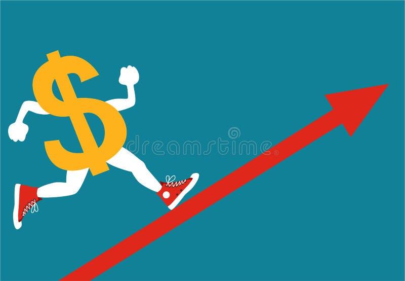 Het toenemen dollar royalty-vrije illustratie