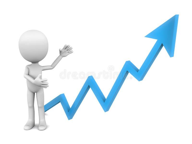 Het toenemen grafiek vector illustratie