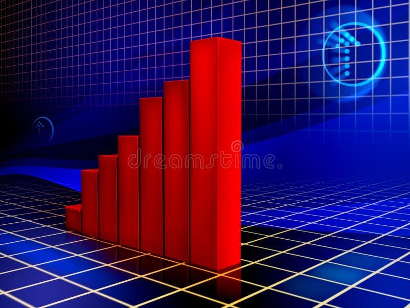 Het toenemen grafiek royalty-vrije illustratie