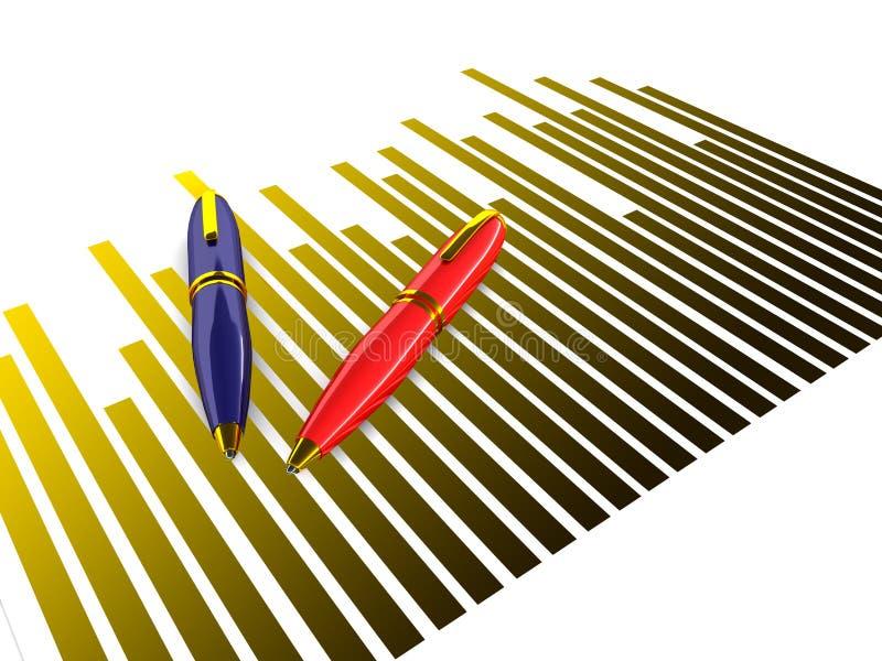 Bedrijfs resultaten vector illustratie