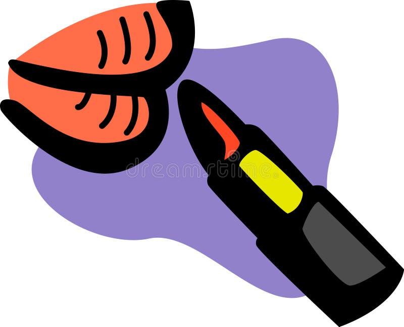 Het toepassen van lippenstift stock illustratie