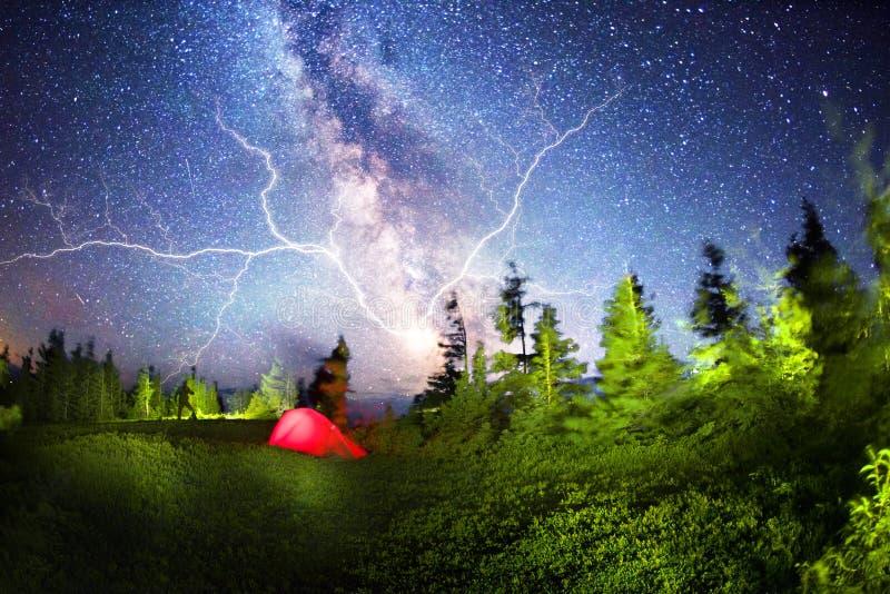 Het toerisme van de onweersonweersbui royalty-vrije stock foto's