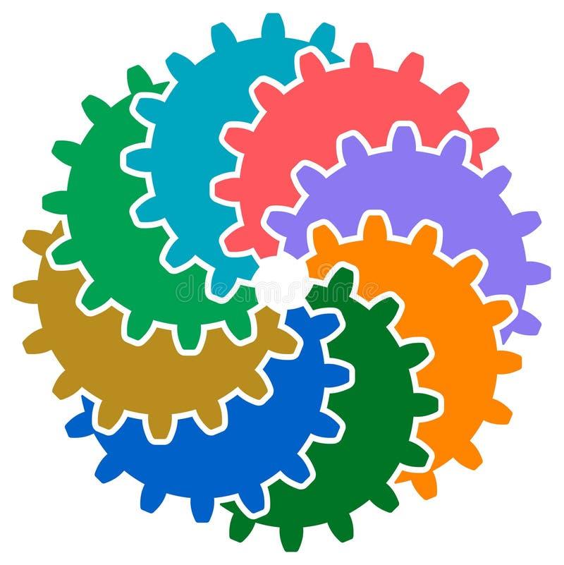 Het toestel rijdt embleem vector illustratie