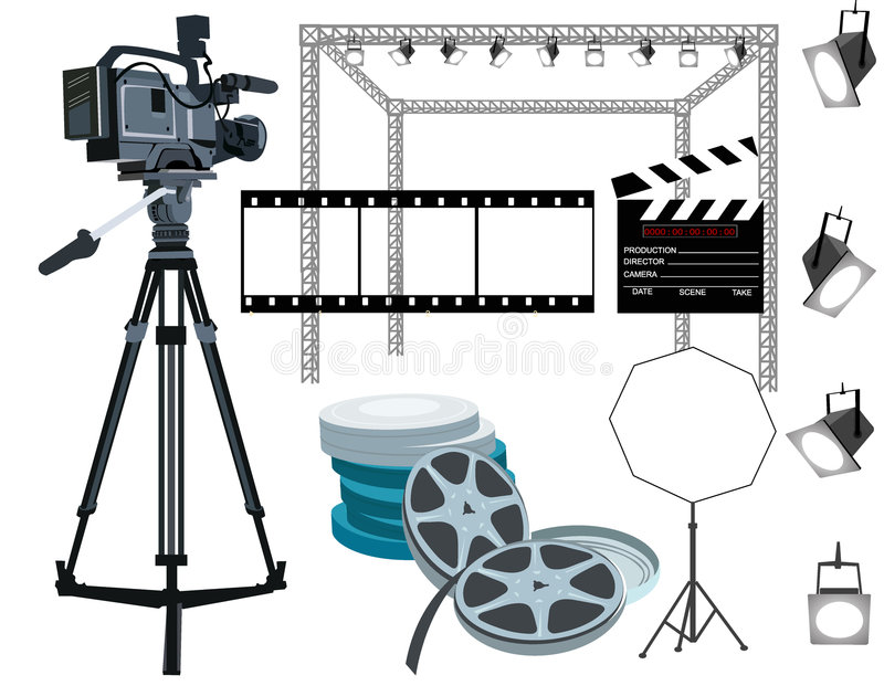 Het toestel van de film stock illustratie