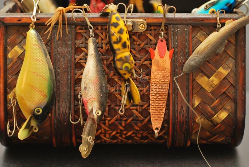 Het toestel van de visserij van het verleden royalty-vrije stock afbeeldingen