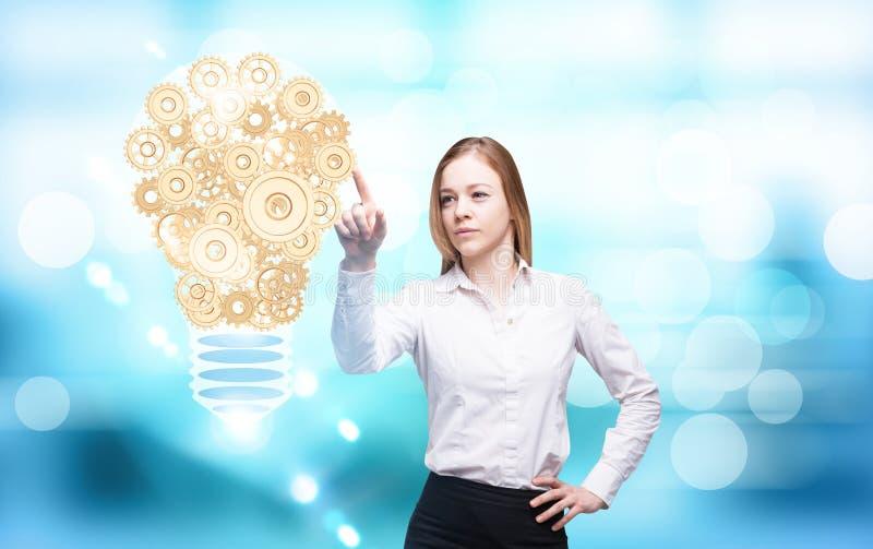Het toestel van het ideeconcept lightbulb royalty-vrije stock foto