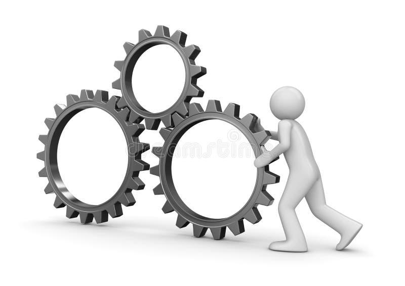 Het toestel van het team copyapce vector illustratie