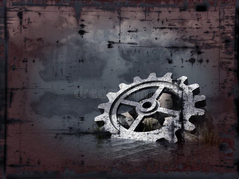 Het toestelwiel van Grunge stock illustratie