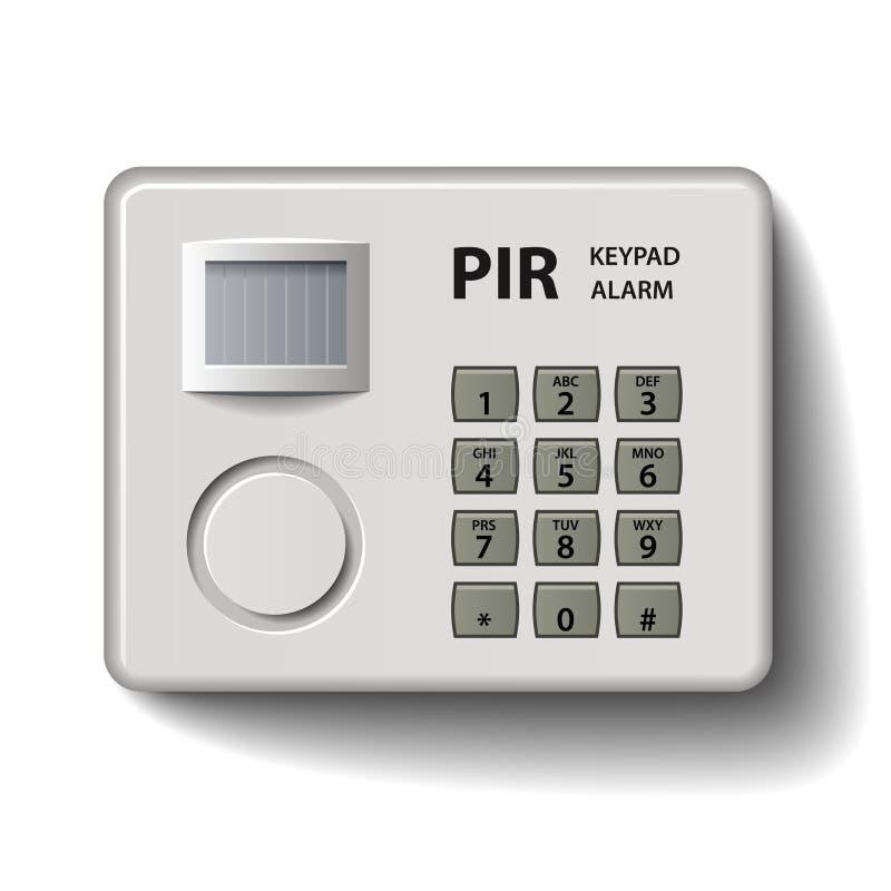 Het toetsenbord infrarood alarm van de motiedetector vector illustratie