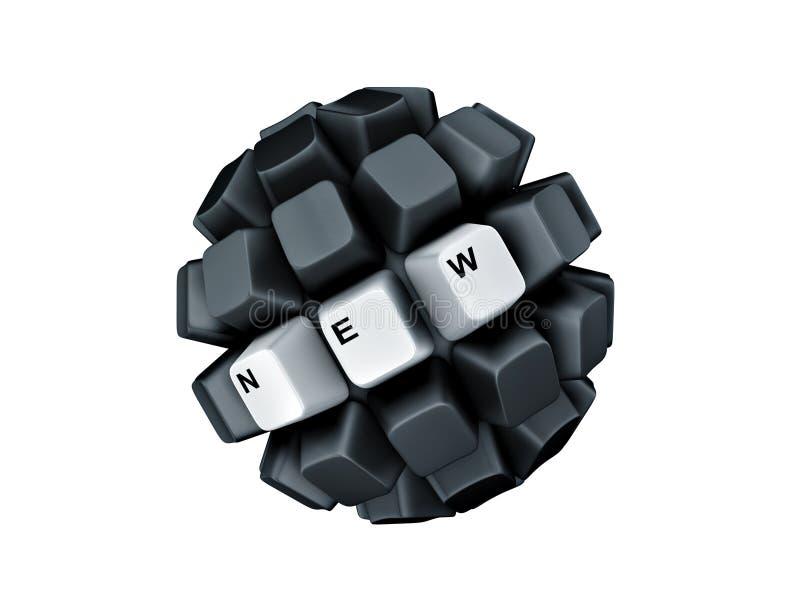 Het toetsenbord sluit nieuw symboolgebied vector illustratie
