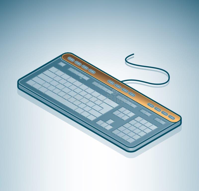 Het Toetsenbord van de computer royalty-vrije illustratie