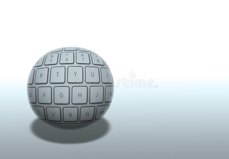 De bal van de computer royalty-vrije illustratie