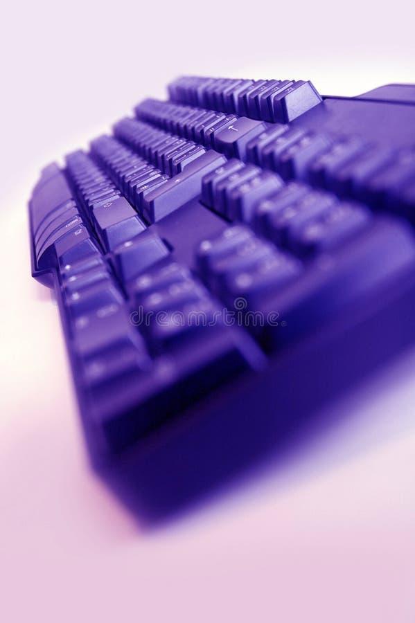 Het Toetsenbord van de computer met blauwe filter royalty-vrije stock foto's
