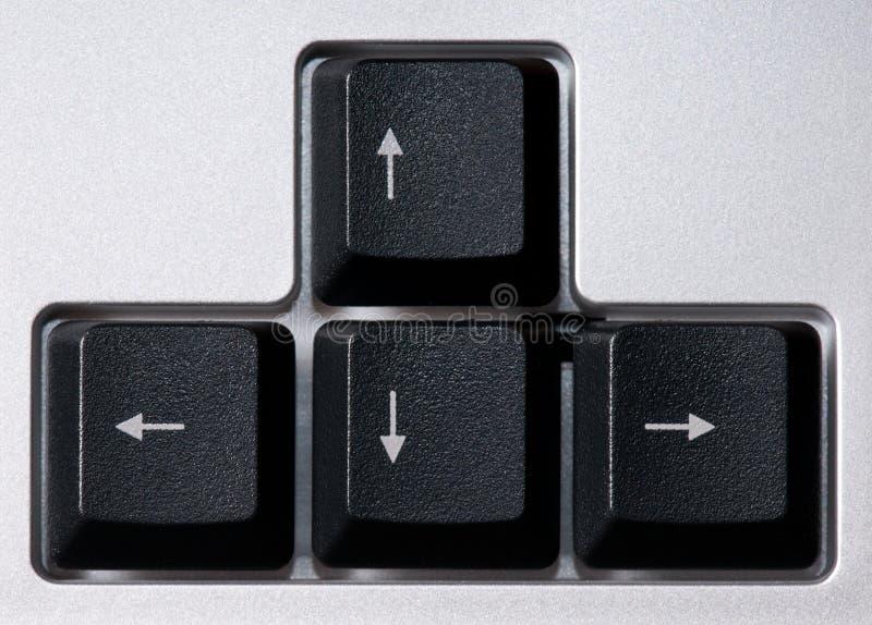 Het toetsenbord van de computer, pijlenstreek royalty-vrije stock fotografie