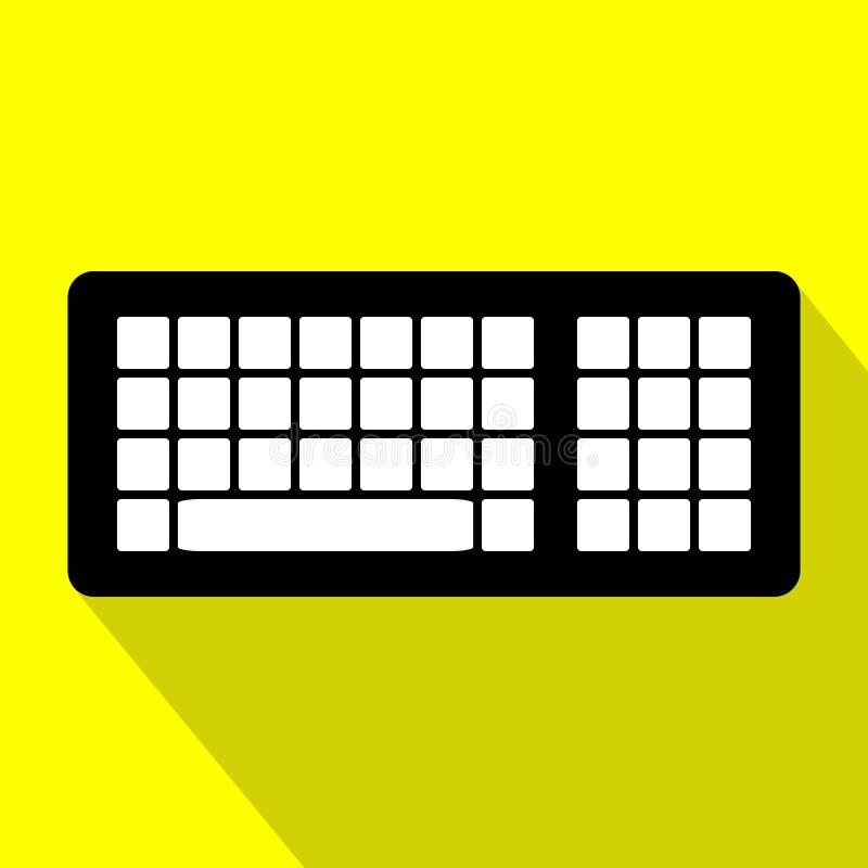 Het toetsenbord van de computer Vlak Ontwerp stock illustratie