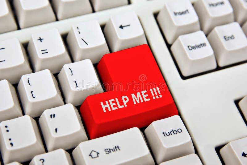Het toetsenbord van de computerPC van de hulp   royalty-vrije stock afbeelding