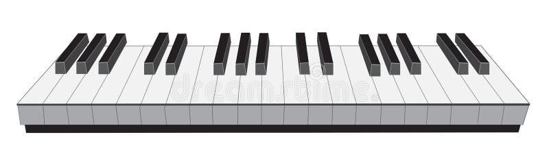 Het toetsenbord van de piano royalty-vrije illustratie
