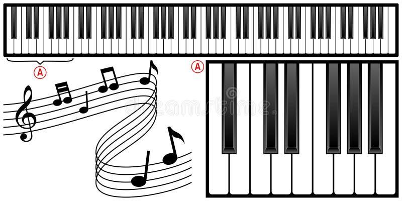 Het Toetsenbord van de piano vector illustratie