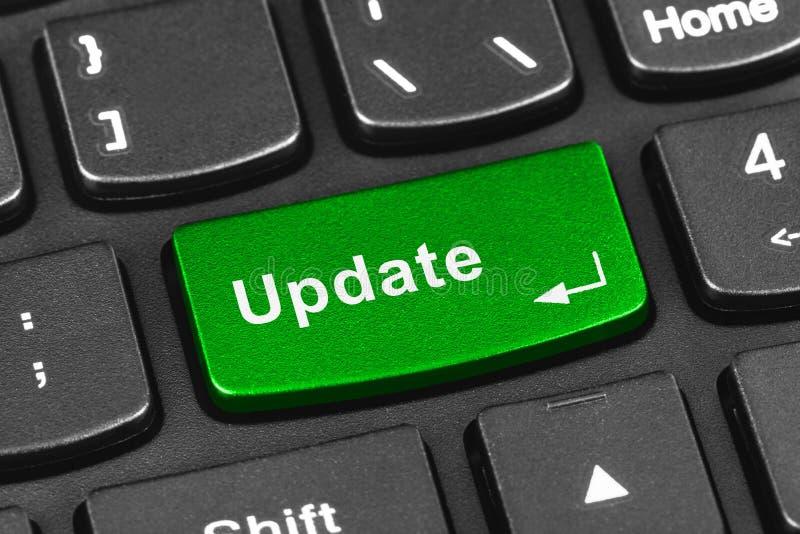 Het toetsenbord van het computernotitieboekje met Updatesleutel royalty-vrije stock foto's