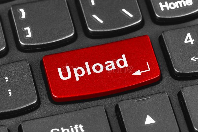 Het toetsenbord van het computernotitieboekje met Upload sleutel stock afbeelding