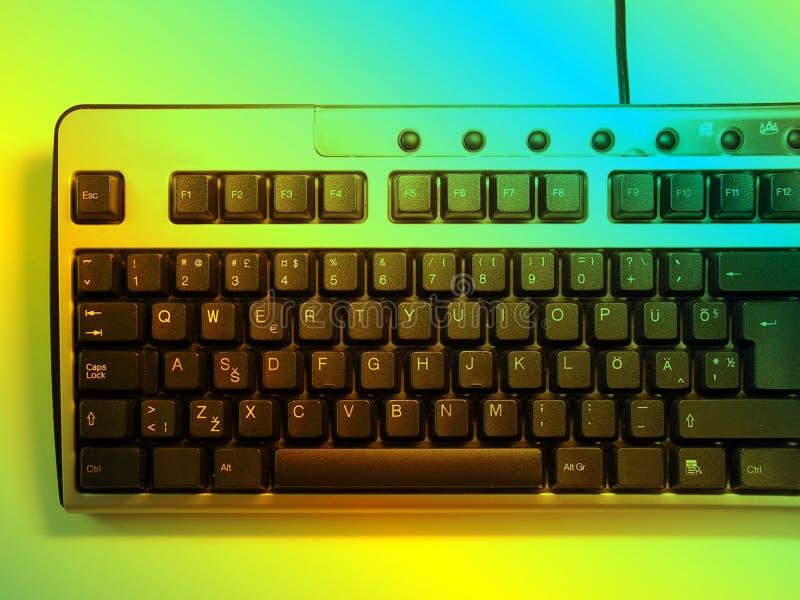 Het toetsenbord van het neon royalty-vrije illustratie