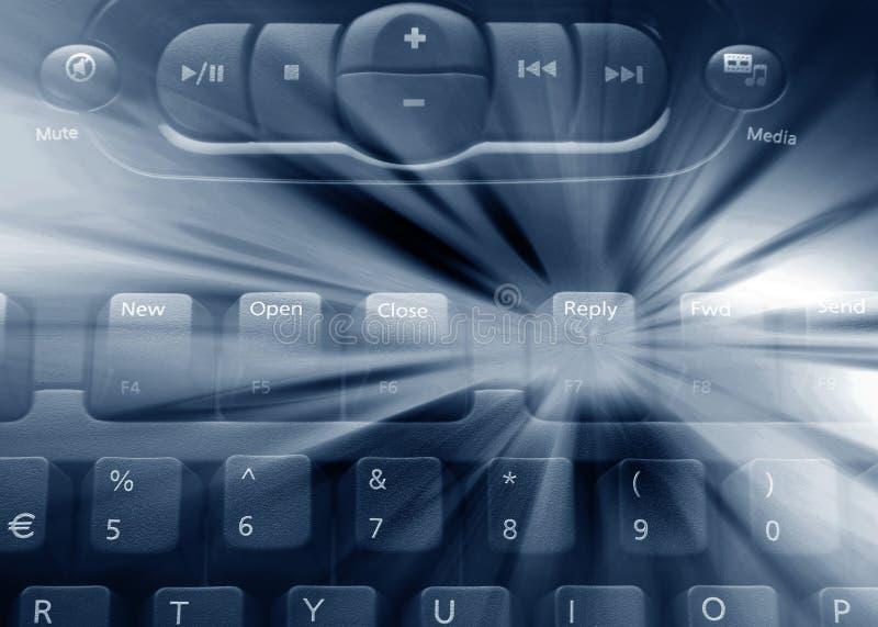 Het toetsenbord van media vector illustratie