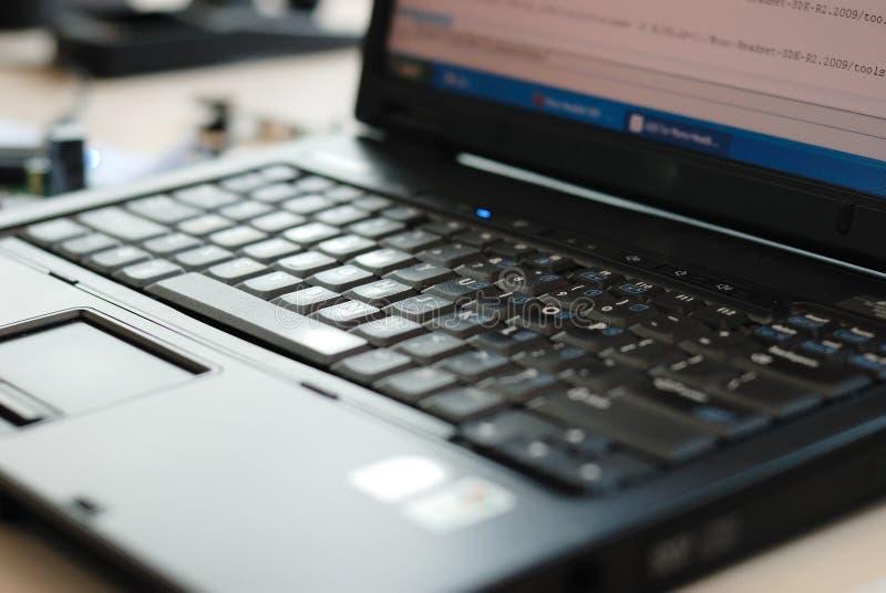 Het toetsenbord van PC van het notitieboekje stock fotografie