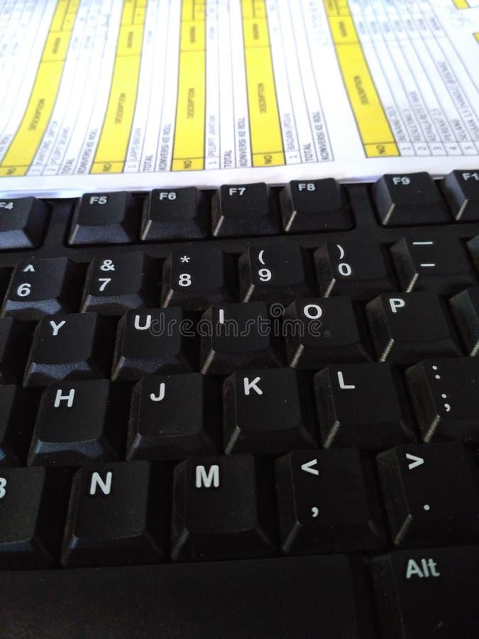 Het toetsenbordwerk stock afbeeldingen