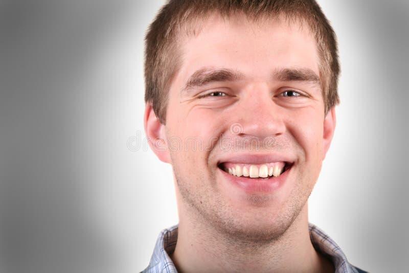 Het toevallige kerel glimlachen royalty-vrije stock foto