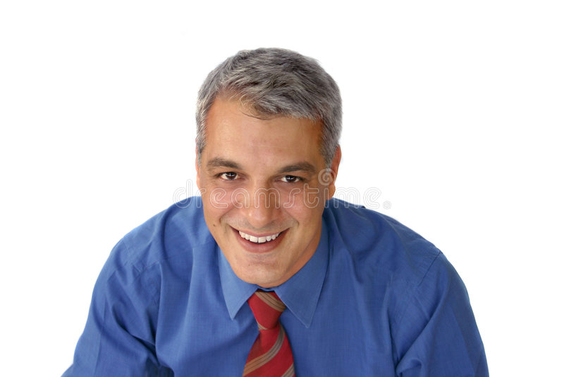 Het toevallige zakenman glimlachen royalty-vrije stock afbeeldingen