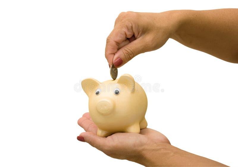 Het toevoegen aan Uw Besparingen stock foto