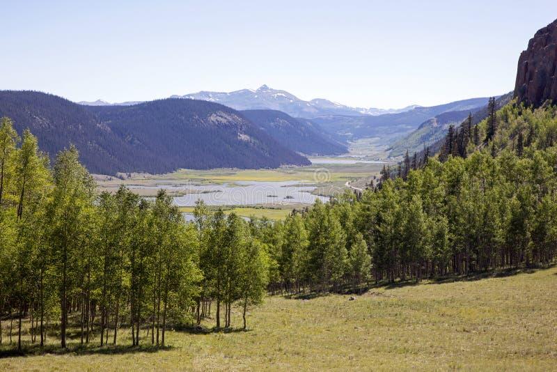 Het toneel landschap van Colorado stock afbeeldingen